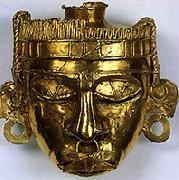 Máscara de Xipe-totec, tumba 7, Monte Albán: Guatemala/Bogotá