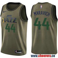Men s Nike Utah Jazz Donovan Mitchell Green Salute to Service NBA Swingman  Jersey 7e85adbb0