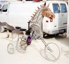 Tricycle Bike, Bike Trailer, Engin, Man Photo, Burning Man, Larp, Trek, Burns, Cycling