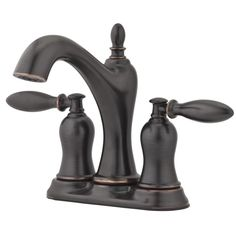 Pfister Arlington Tuscan Bronze 2-Handle 4-in Centerset WaterSense Bathroom Faucet with Drain 88 Lowes