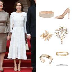 Crown Princess Mary, Royal Fashion, Denmark, New Look, 30 September, White Dress, Lithuania, Danish, Police