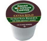 Green Mountain Organic Fair Trade Coffee Sumatran Reserve Extra Bold K Cups 4pkg $61.79 Fair trade coffee.