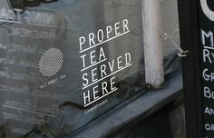Moving Brands - All About Tea Window by SeptemberIndustry, via Flickr