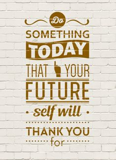 free project life card ... Do something today that your future self will thank you for