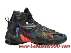 new styles 301eb f015e Nike Lebron XIII 13 Akronite 807219-008 Chaussures NIke Basket Pas Cher  Pour Homme Noir