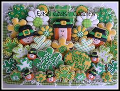 Love those shamrock cookies!