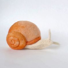 Needle Felted Snail // Snail Finger Puppet // Felted by PetitFelts