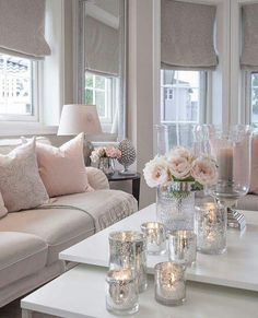 Beautiful cream and pink inspired living room. Design Beautiful cream and pink inspired living room. Cozy Living Rooms, Living Room Interior, Home Living Room, Living Room Designs, Cream Living Room Furniture, Cream Living Room Decor, Shabby Chic Living Room, Living Room Inspiration, Interior Inspiration