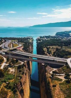 Corinth Canal, Greec
