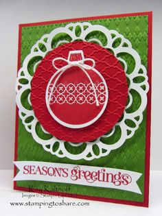 Stamping to Share: 9/19 Stampin' Up! Ornament Keepsakes
