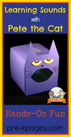 Pete the Cat Letter Sound Activity for #preschool and #kindergarten