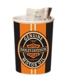 HD-POB-325 - Harley-Davidson® Genuine Motor Oil Orange Waste Basket - Barnett Harley-Davidson® $15