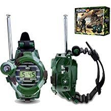 Walkie Talkies for Kids, Aokon Two-Way Long Range Watch Radio Transceiver with Flashlight for Children, Cool Outdoor Toys Gifts for Girls & Boys, 2 Pack Modern Home Electronics, Electronics Gadgets, Pistola Nerf, Kids Army, Nerf Toys, Spy Gear, Ninja Turtles Action Figures, Gaming Tattoo, Ladybug Anime