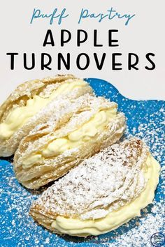 These apple turnovers are made with puff pastry and taste just as delicious the bought ones. They can also be made with a peach or nutella filling. Apple Turnover Recipe, Turnover Recipes, Apple Cake Recipes, Baking Recipes, Dessert Recipes, Nutella Recipes, Appetizer Recipes, Puff Pastry Recipes, Apple Turnovers With Puff Pastry
