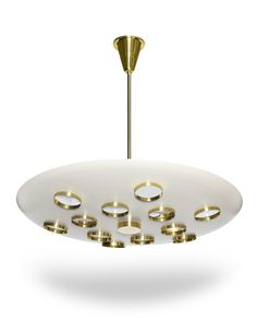 Contemporary Saucer Pendant by Fedele Papagni