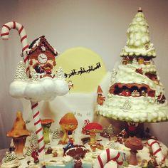 """Cake Art. /Tarta Exposición """"Dulce Navidad"""" en 1era feria de Repostería Creativa Bcn&Cake - Barcelona"""