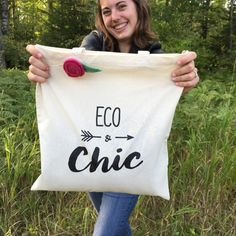 SALE TODAY Eco & Chic Organic Cotton Tote Bag by by WormeWoole