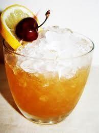 Amaretto Sour. (Old fashioned - Shake & strain) 6 Amaretto Disaronno, 3 L&G, 1 Aromatic Bitters, Garnish - Orange sq and cherry.