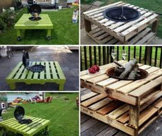 Pallet Fire Pit Table