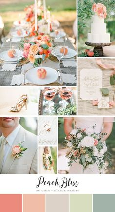 Peach Bliss - Summer Wedding Inspiration in a Romantic Palette of Soft Peach