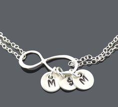 Personalized Infinity bracelet  birthday door jewelrycraftstudio, $35.40
