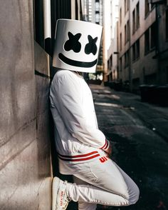 Marshmello by candace Dj Marshmello Costume, Marshmallow Costume, Marshmello Dj, Cartoon Wallpaper Hd, Iphone Background Wallpaper, Dj Alan Walker, Marshmallow Pictures, Marshmello Wallpapers, Funny Soccer Memes