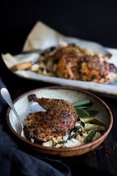 Roasted Spatchcocked Chicken w/ Whole Grain Mustard & Drippings ...