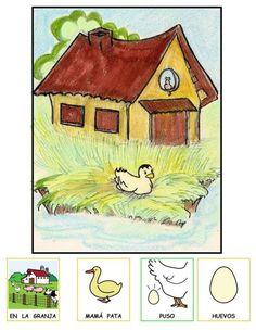 """MATERIALES - """"El patito feo"""" Cuento adaptado con pictogramas y láminas de Fátima Collado. http://arasaac.org/materiales.php?id_material=620"""