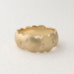 kumo ring・K18 yellow gold・diamond・¥126000  kumo ring・silver・diamond・¥33600