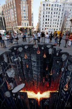 I love 3d street and building art