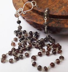 Spinel necklace earthy spinel real spinel sterling silver