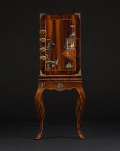 Side Panel Detail – A RARE AND UNUSUAL ROSEWOOD AND HARDSTONE MOUNTED CABINET ON STAND IN THE CHINOISERIE TASTE | Carlton Hobbs New York