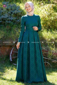 Cubicle Accumulation - Emerald Brocade Blythe Dress