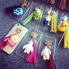 Price: US $ 5.54/piece Buy 2 pcs immediately get 30% discount  Free shipping to Worldwide  Tassel Design 3D Cartoon Cell Phone Back Case For Apple iPhone 6/6plus  Color:Rubber Duck/Unicor/Frog/Doraemon/Baymax/Minions/Camera/Peach ~~~~~~~~~~~~~~~~~~~~~~~~~~~~~~~~~~~~~~~~~~ If you like it, please contact me: Wechat: 575602792  Whats App: 13433256037  E-mail: woxiansul@live.com