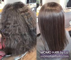 Just lovely. Japanese Hair Straightening, Best Hair Salon, Japanese Hairstyle, Perms, Kinky, Hair Color, Curly, Hairstyles, Long Hair Styles