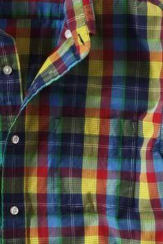 Men's Plaid Poplin Shirt from Lands' End Canvas