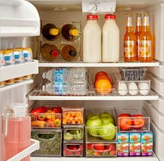 A fully-organized fridge