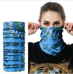 FEDDIY Women Men 2PCS Neck Gaiter Headwear Headband Face Mask Seamless Bandana 16-in-1 Magic Scarf Multi Function for Runing Fishing Hiking Motorcycle