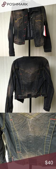 Eckored jean jacket Jean jacket size small detail stitching eckored Jackets & Coats Jean Jackets