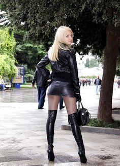 "leather-fashionista: ""Lather Fashion """