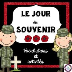 This activity pack includes 10 fun Remembrance Day activities! French Teaching Resources, Teaching French, Teacher Resources, Holiday Activities, Classroom Activities, Remembrance Day Activities, Vocabulary Cards, French Words, Language Activities