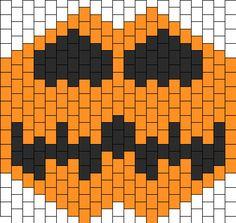 cat o latern  quilt pattern | lantern kandi mask bead pattern peyote bead halloween jack o lantern ...