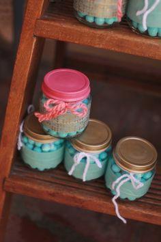 Frascos de comida de bebé para recuerditos :: Baby food jars as favors