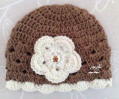 Jarní/podzimní čepička - hnědá/smetanová Crochet Hats, Beanie, Fashion, Knitting Hats, Moda, La Mode, Fasion, Beanies, Fashion Models