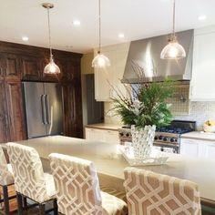 Natural light + Rejuvenation's Grandview pendants provide some subtle shine in this beautiful kitchen remodel.