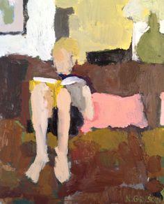 Gully , Melbourne - Albert Lee Tucker, 1962 Australian, Oil on composition board, 80 x 90 cm
