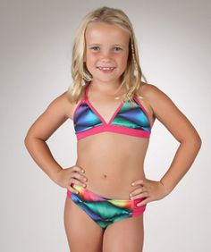 804a786968ec1 Hurley Girls Bold Dimension Triangle Bikini and Bottom - My collection from  top #designers Hurley · Hurley ClothingSwimsuits 2014Swim ...