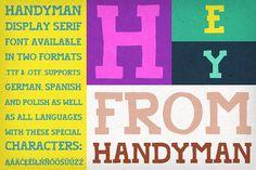 Handyman Font by Frisk Shop on @creativemarket