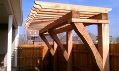 The wooden pergola is a good solution to add beauty to your garden. If you are not ready to spend thousands of dollars for building a cozy pergola then you may devise new strategies of trying out something different so that you can re Diy Pergola, Rustic Pergola, Wood Pergola, Pergola Swing, Deck With Pergola, Outdoor Pergola, Cheap Pergola, Covered Pergola, Rustic Outdoor
