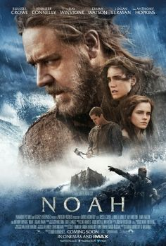 This controversial version of NOAH (Darren Aronovsky, 2014) aims to be a love story, a family drama, a war movie and a disaster movie is a film with guts, grace and visual wonders, with all its technological modernity, is built on a spiritual basis. Are quite remarkable interpretations of Russell Crowe as Noah, Jennifer Connelly as his wife Naameh, Anthony Hopkins as Mathuselah, and amazing Emma Watson playing Ila.